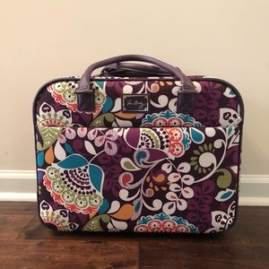 Vera Bradley Plum Crazy Rolling Work Bag
